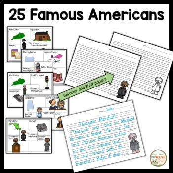 4 Square Writing:  Famous Americans