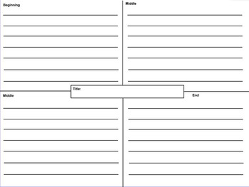 4 Square Writing Graphic Organizer