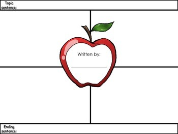 4-Square Writing Planner - Apple Theme