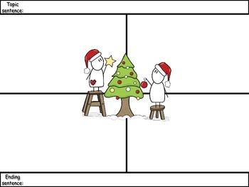 4-Square Writing Planner - Christmas Theme 1