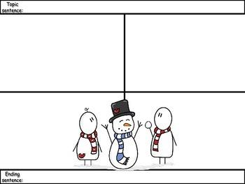 4-Square Writing Planner - Christmas Theme 2
