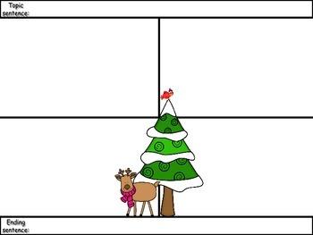 4-Square Writing Planner - Christmas Theme 4