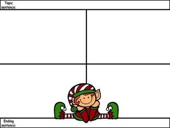 4-Square Writing Planner - Christmas Theme 5