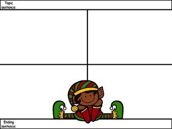 4-Square Writing Planner - Christmas Theme 6