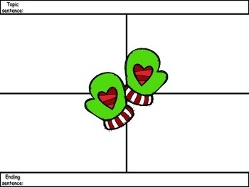 4-Square Writing Planner - Christmas Theme 9