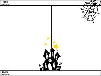 4-Square Writing Planner - Halloween Theme