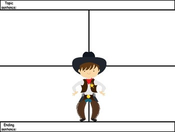 4-Square Writing Planners - 4 Pack - Cowboy Theme