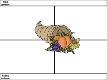 4-Square Writing Planners - 4 Pack - Thanksgiving Theme