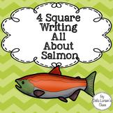 4 Square Writing Salmon for Kindergarten