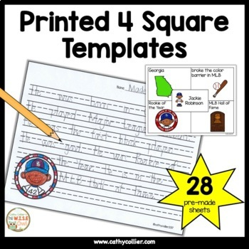 4 Square Writing:  Special People in Black History