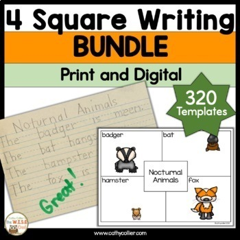 4 Square Writing Year Round BUNDLE