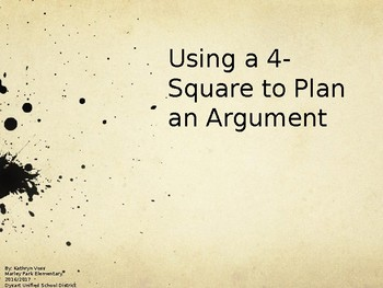 4-Square Writing for an Argument