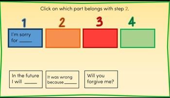 4-Step Apology Interactive PowerPoint (Bonus Task Cards!)