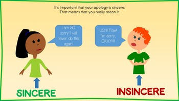 4-Step Apology Interactive PowerPoint (Bonus Task Cards!)