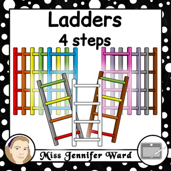 4 Step Ladder Clipart