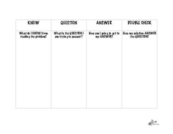 4 Step Problem Solving Chart