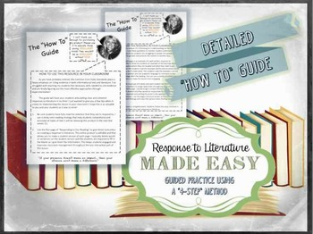 4-Step Response to Literature- Citing Evidence, CCSS Aligned, No Prep, Printable
