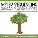 4-Step Sequencing Seasons Printable Worksheets