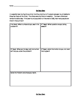 4 Step Word Problem using writing