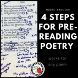 4 Steps for Pre-Reading Poetry Annotations (Works with ANY Poem) / Google + PDF