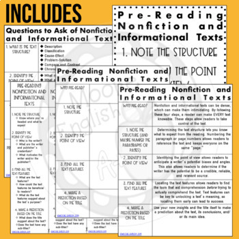 4 Steps to Pre-Read ANY Nonfiction or Informational Text