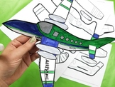 4 Styles Paper Airplanes - Coloring Pages Color-in Paper C