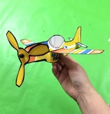 4 Styles Paper Airplanes - Full Color Paper Craft Template