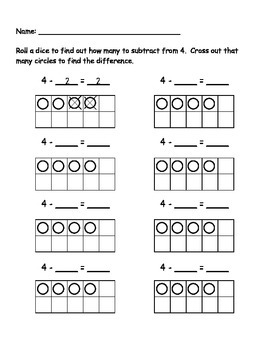4 Subtraction Roll