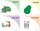 4 Syllable Flashcards