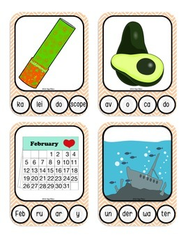 4 Syllable Words with Fingerprint Prompts (marking syllables, multisyllabic)