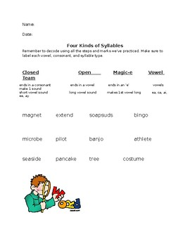 4 Syllables Practice