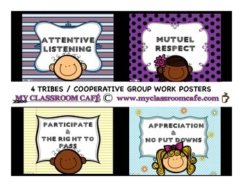 4 TRIBES / Cooperative Group Work Posters (ENGLISH)
