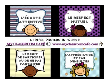 4 TRIBES or Cooperative group work POSTERS in French