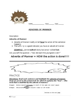 4 TYPES OF ADVERBS  Lesson Plans