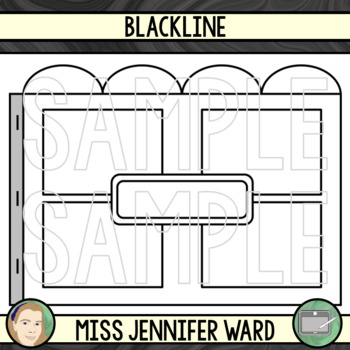 4 Tabs : Book Clip Art Sets : Window / Box Features