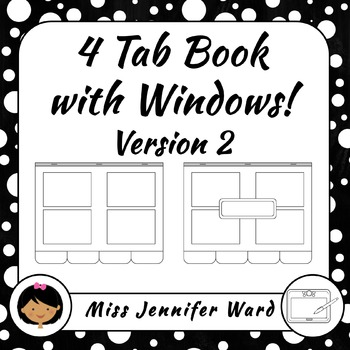 4 Tab Template Version 2 Clipart