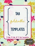 Tab Foldable Templates