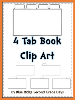 4 Tab Book or interactive notebook Clip Art
