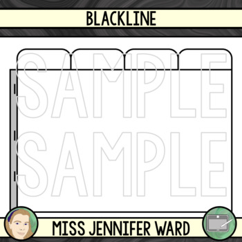 4 Tabs : Book Clipart Sets