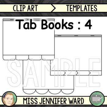 4 Tabs : Book Clip Art Sets