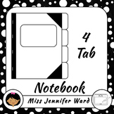4 Tab Notebook Template