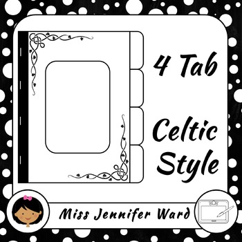 4 Tab Celtic Book Template
