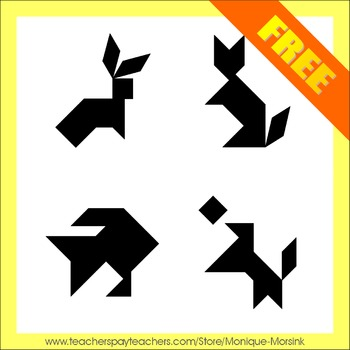 Tangram: 4 Shapes - The new Classic Collection - Puzzle Cards - Freebie