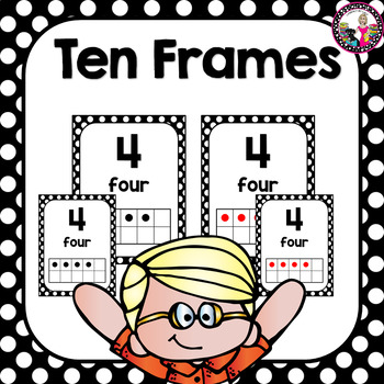 4 Ten Frame Sets in both Full and Half Size