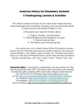 4 Thanksgiving Lessons & Activities/American History