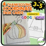 Thanksgiving Math Activity Coordinate Drawing Task Cards
