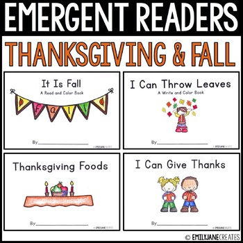 4 Thanksgiving and Fall Emergent Readers