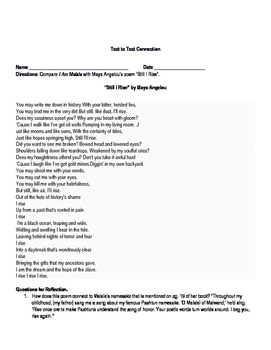 4 Thematic Text to Text Connections for I Am Malala