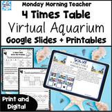 4 Times Table Multiplication Aquarium Visit Google, Printa