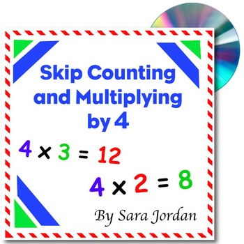 Skip Counting & Multiplying by 4 - Song w/ Lyrics & Activi